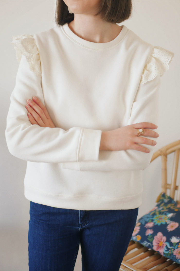 Couture cosy : le sweat Jasmin Ikatee Couture
